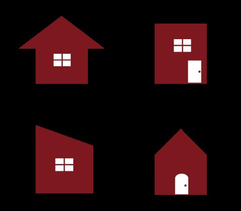①お好きなお家の形を選びます。