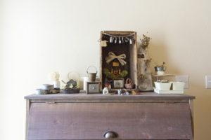 アンティーク雑貨に囲まれた平屋スタイルのお家